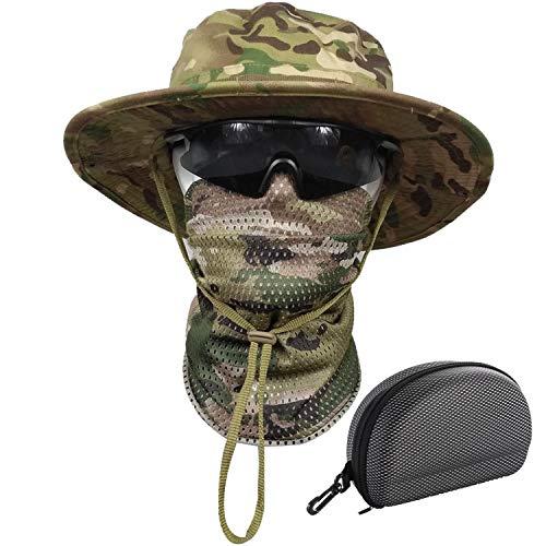 QMFIVE Boonie Benna Hat Tesa Larga per Cappelli da Sole per la Pesca Militare all'aperto Caccia da Campeggio Airsoft