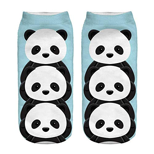 NANAYOUPIN 5 Paar Nieuwe 3D Digitale Print Sokken Leuke Flamingo Panda Heerlijke Voedsel Spelen Cool Gorilla Patroon Katoen Comfortabele Sokken Unisex Paars
