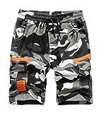 LAUSONS Camouflage Shorts für Jungen Cargo Shorts Kinder Sommer Bermuda Kurze Hosen Freizeithose 6-7Jahren