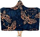 Coperta con cappuccio insetto indossabile coperta calda mantello scialle coperta coperta adatta per bambini, adulti e adolescenti 50x40 inch