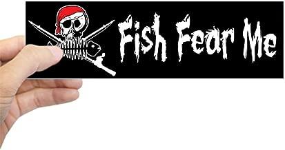 CafePress Fish Fear Me Bumper Sticker 10