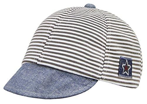YJZQ Baby Kinder Mütze Junge Baseball Cap Hut Streifen Schirmmütze Sonnenhut