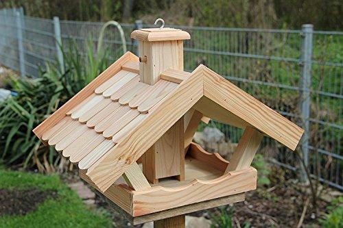 Vogelhaus Vogelhäuser VB53 Vogelfutterhaus Vogelhäuschen-aus Holz mit Lerchenholzschindeln - 2