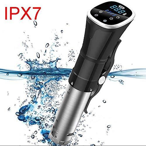Sous Vide Kocher, IPX7 Wasserdicht Thermal Einhängethermostaten, Genaue Temperatur-Digital-Timer, Ultra-Leise, 1800 Watt, Edelstahl/Schwarz