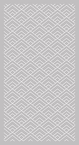 Lovib Alfombra Vinílica Geométrica Cuadrado   Color Gris   140x140 cm  ...