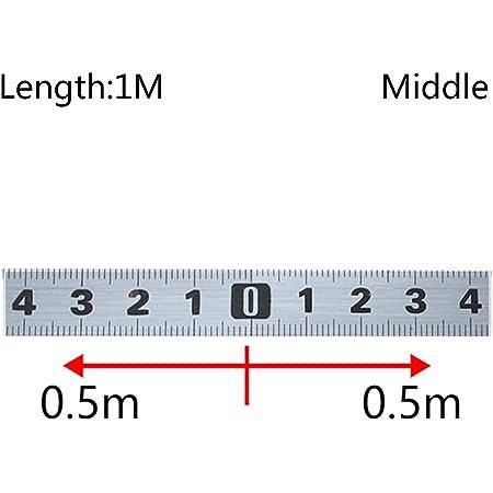 3M-M Berrd 1-5m Metro a nastro per tracciato obliquo in acciaio inossidabile Metro a scala metrica autoadesiva Righello resistente alla ruggine e resistente allusura