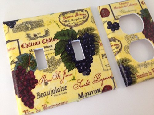 French Wine Grapes Light Switch Covers All Sizes Offered