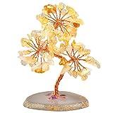 Mookaitedecor - Árbol de cristal con base de ágata, árbol de bonsái para decoración de árbol de la riqueza y la salud