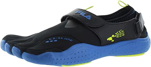 Fila Skeletoes Ez Slide Drainage Men's Minimalist Shoes Black Size 10