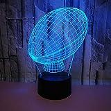 3D Rugby LED Lampe Art Déco Lampe Lumières LED Décoration Lampes Touch Control 7 Couleurs Change Veilleuse USB Powered Enfants Cadeau Anniversaire Noël Cadeaux