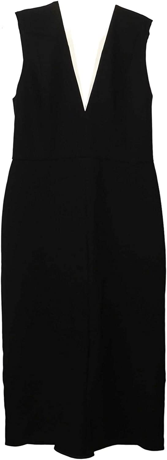 Victoria Beckham Women's Bonded Crepe Tux Fitted Dress