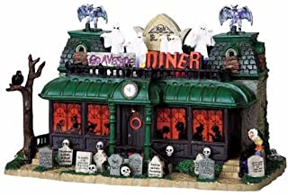 Lemax Spooky Town Graveside Diner with Adaptor # 95805