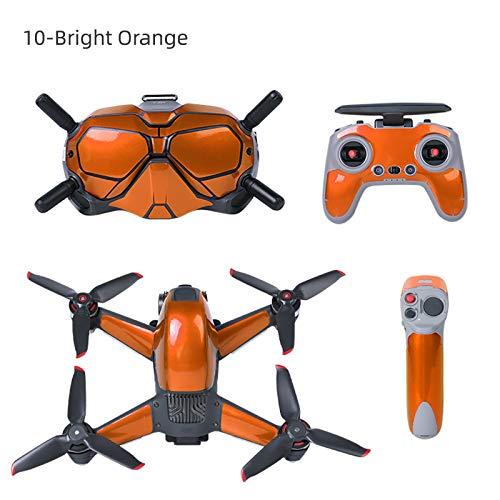 DJFEI FPV Combo Drone Aufkleber Set, wasserdichte PVC Aufkleber Skins Wrap Aufkleber Protector für DJI FPV Drone, Wasserdicht Kratzfest Sonn enbeständig (J)