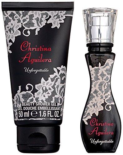 Christina Aguilera Unforgettable Geschenkset Eau de Parfum Natural Spray und Duschgel, 1er Pack (1 x 15 ml)