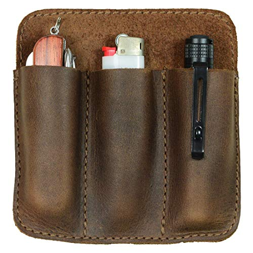 Hide amp Drink Leather Minimalist Tool Pocket Pouch Everyday Carry Compact Organizer Handmade Includes 101 Year Warranty :: Bourbon Brown