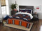 Officially Licensed NFL Denver Broncos Queen Bed in a Bag Set, 86' x 86'
