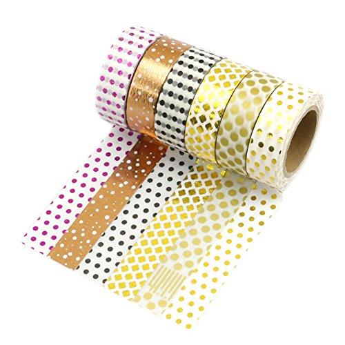 Très Chic Mailanda Nastro Adesivo Decorativo Washi Tapes Colorati Mascheratura Scrapbooking Set di 10 Artigianato, per Fai-da-Te e per Incartare Regali
