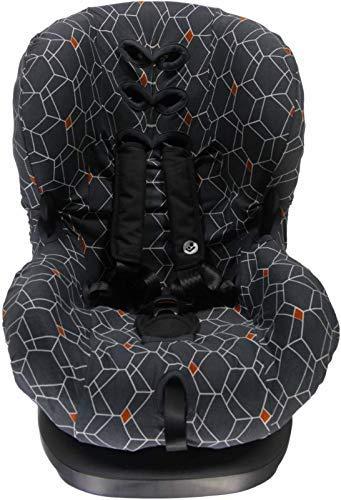 Briljant Baby Sitzbezug DECO ** UNIVERSAL Schonbezug 3 und 5 Punkt Gurt System ** Sitze der Gr. 1 wie z.B. Maxi-Cosi Priori/SPS/XP, Römer King/TS/Duo etc. (Anthrazit)