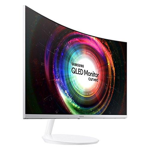 Samsung C27H711 Monitor Curvo Quantum Dot e Ultra WQHD, Risoluzione 2560 x 1440, Frequenza di aggiornamento 60 Hz, Tempo di risposta 4 (GTG), Bianco/Argento, 27'', VESA