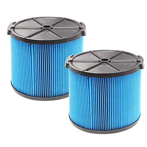 2 Pack VF3500 Replacement Filter for Ridgid Shop Vac 3-4.5 Gallon Vacuums 3-Layer Fine Dust Vacuum Filter for Ridgid WD3050, WD4070, WD4080, WD4522, 4000RV, 4500RV