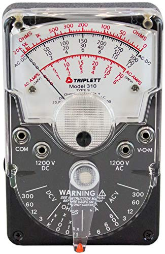 Triplett Model 310 Hand-Sized Analog Multimeter - AC/DC Voltage, DC Current, Resistance (3018)