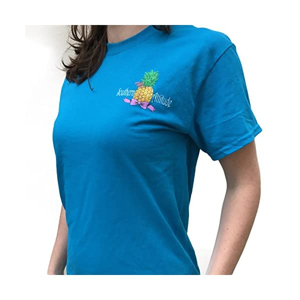 Southern Attitude Pineapple Sapphire Short Sleeve Shirt