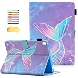 UUcovers iPad 9.7 inch 2018 & 2017 Case iPad 6th/5th Generation with Pencil Holder, iPad Air 1/Air 2 Folio Stand Smart PU Leather Magnetic Shockproof Cover [Auto Sleep/Wake], Pink Mermaid Tail Scale
