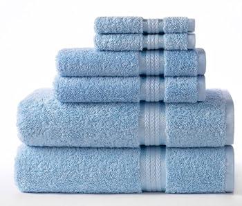 light blue bath towels