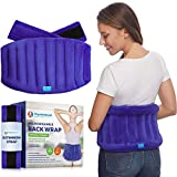 Microwavable Extra Large Heating Wrap for Lower Back Pain – Moist Heat Therapy Pad for I...