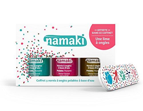 Namaki 110904 Set Nagellack abziehbar Karibik Coral Bronze + Vegan Nagelfeile