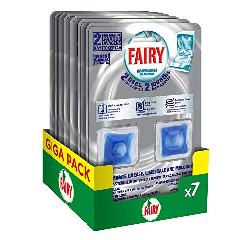 Fairy Additivo Cura Lavastoviglie, Maxi Formato, 7 confezioni x 2 pezzi