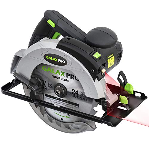 GALAX PRO 1400W 5500RPM Circular Saw, Electric Saw with Laser, Adjustable...
