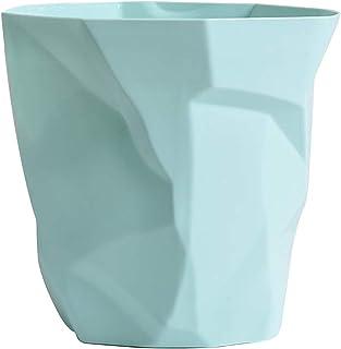 Fenteer Home Papierkorb PP Einfarbig Altpapier Korb M/ülleimer M/ülleimer Ohne Deckel Gro/ße Kapazit/ät 6L Dark Green Big