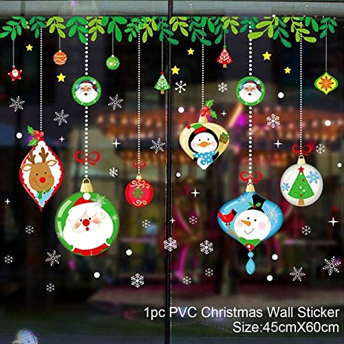 Cristmas Wall Window Christmas Stickers Christmas Decoration For Home 2019 Merry Christmas Adornos Navidad Feliz Año Nuevo 2020 China 966