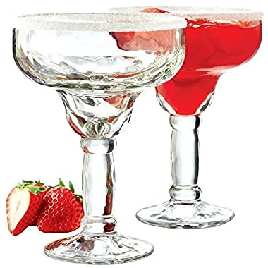 Libbey 5784 Yucatan 4-Piece Margarita Glass Set, 13.5-Ounce, Clear