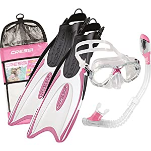 Cressi Snorkel Set Kids with Flippers, Made in Italy