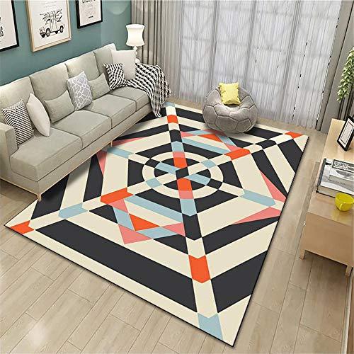 alfombras para Salon Alfombra de Pila Baja Sala de Estar Decoración Sofá Sofá Cojín Moderno Rectángulo alfombras Infantiles Grandes Alfombra bebé 100X180CM 3ft 3.4' X5ft 10.9'