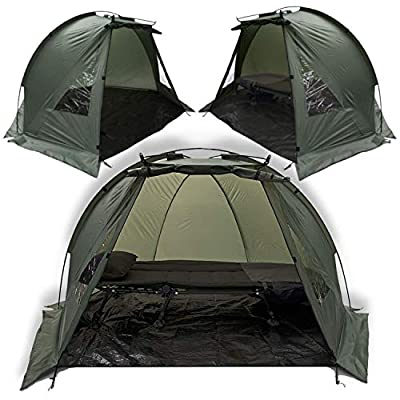 Carp Fishing Quick Erect Bivvy Day Tent Shelter 1-2 Man Fishing Bivvy + Groundsheet and Pegs from DNA