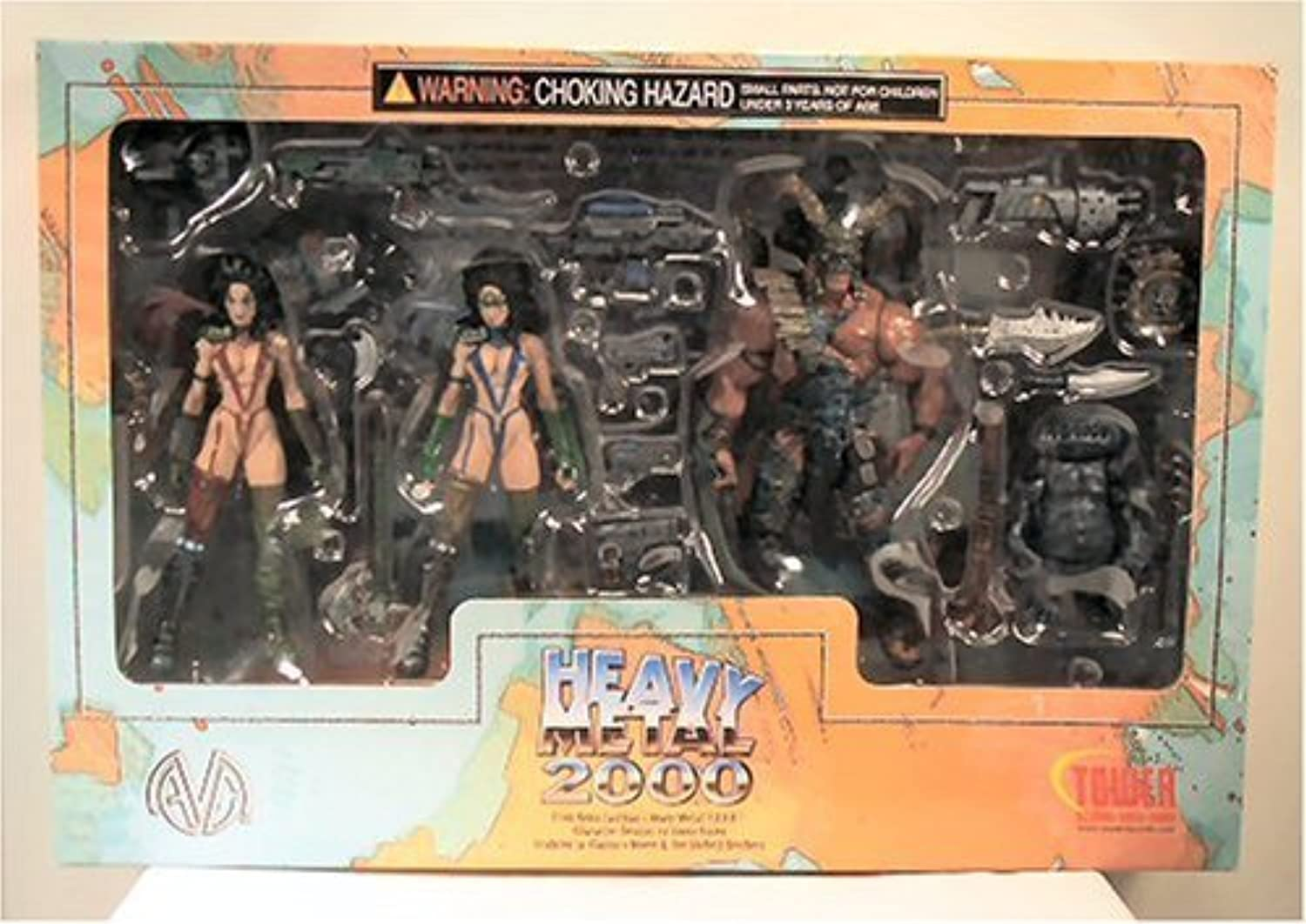 Heavy Metal 2000 FAKK 2 Tower Record Exclusive 4 Pack 6  Action Figures Julie Strain by Moore Action Collectibles, Inc.