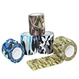 Edostree 多機能 伸縮性 カモフラージュテープ 迷彩テープ 包帯素材 ジャングル迷彩 偽装 5色セット MCBD-01