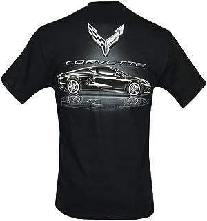 C8 Corvette Stingray Metallic Tonal Reflections T-Shirt : Black (Medium)