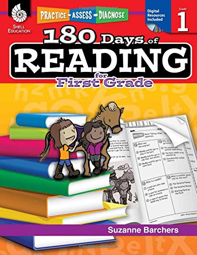 Price comparison product image 180 Days of Reading: Grade 1 - Daily Reading Workbook for Classroom and Home,  Sight Word Comprehension and Phonics Practice,  School Level Activities Created by Teachers to Master Challenging Concepts