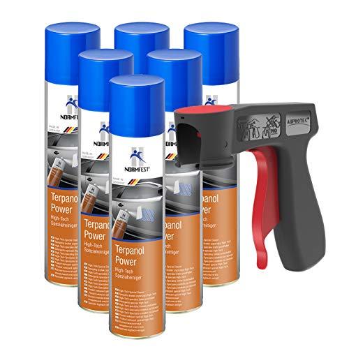 AUPROTEC Nettoyant spécial High-Tech Terpanol Power détergent Spray 6X 400 ML + 1x poignée Originale pour Bombes aérosols