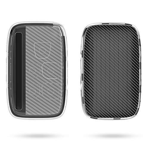 kwmobile Autoschlüssel Hülle kompatibel mit Land Rover 5-Tasten Autoschlüssel - TPU Fullbody Schlüsselhülle Carbon Schwarz