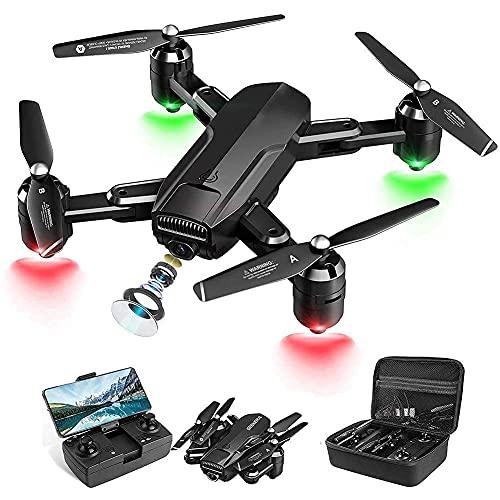 GZTYLQQ Drone con videocamera 4K HD, Drone con Trasmissione in Tempo Reale FPV, quadricottero Pieghevole RC per Bambini, Adulti e Principianti