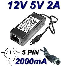 Adaptador Alimentación Cargador 12V 5V 5pin para disco duro Teac HD 35OT 300GB