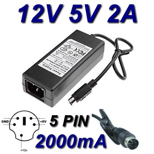 TOP CHARGEUR * Netzteil Netzadapter Ladekabel Ladegerät 12V 5V 2A 5 PIN für Festplatte DA-30C01 WD Elements WD5000E035-00 HDD