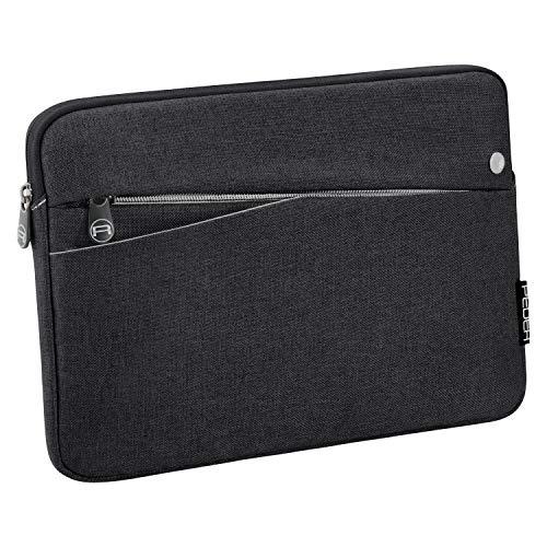Pedea Tablet PC Tasche Fashion für 10,1-11 Zoll (25,6-27,96 cm) Schutzhülle Etui Hülle mit Zubehörfach, schwarz