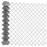 Garmix Maschendrahtzaun Gartenzaun Viereckgeflecht Zaun Verzinkt 65x1,8mm (200cm x 15m)