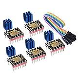 PoPprint TMC2208 V3.0 - Modulo motore passo-passo con dissipatore di calore e modalità UART, compatibile con Ramps1.4 o MKS Board SKR V1.3 per stampanti 3D, 1